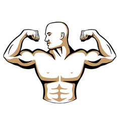 male body builder logo vector image