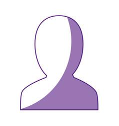man profile silhouette vector image