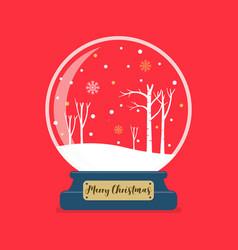 merry christmas glass ball winter season vector image