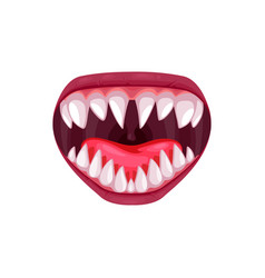 Monster animal or alien maw laughing mouth icon vector