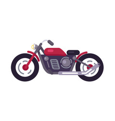 motorbike transport mean vector image