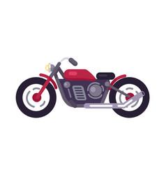 Motorbike transport mean vector