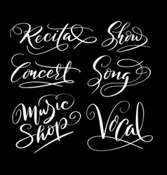 Music and song hand written typography vector