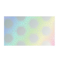 neon hologram with luminous geometric pattern vector image