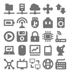 Network Technology Icons 1 vector