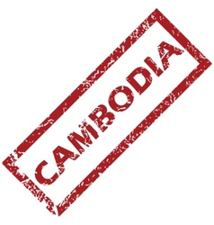 New Cambodia rubber stamp vector
