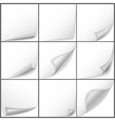 paper curled corners set vector image