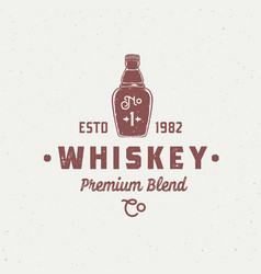 premium blend whiskey abstract sign symbol vector image