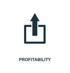 profitability icon monochrome style design from vector image