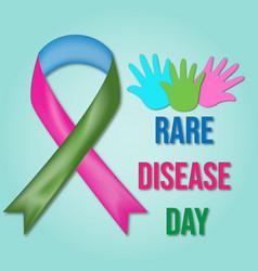 Rare disease day vector