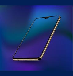 realistic smartphone mockups vector image