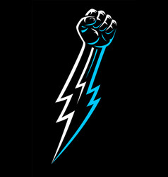 rebel clenched raised male fist hand fight rights vector image