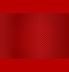 Red perforated background hexagon holes vector