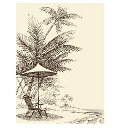 Relaxation concept hand drawn tropical vector