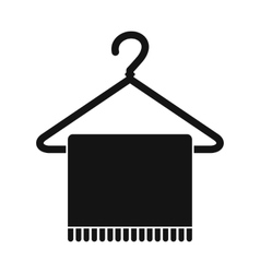 Scarf on coat-hanger icon vector image
