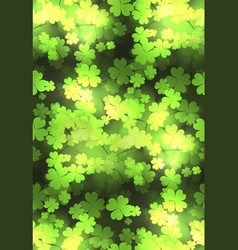 Seamless festive texture with a happy four-leaf vector