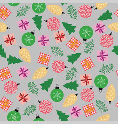 seamless winter christmas background vector image
