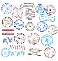 set different stamps frames vector image