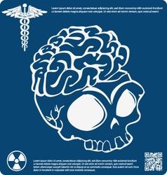 Skull X ray 11 vector