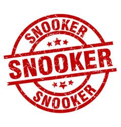 snooker round red grunge stamp vector image