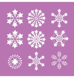 Snowflakes set snow flake icon vector image