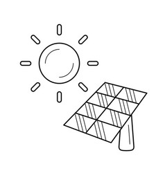 solar energy industry line icon vector image