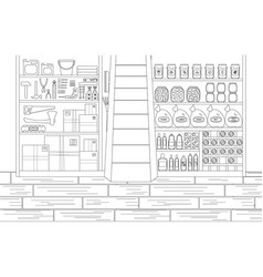 Storeroom in outline style vector