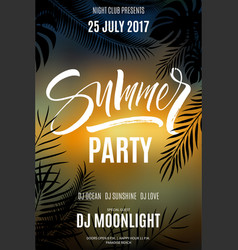summer party flyer vector image