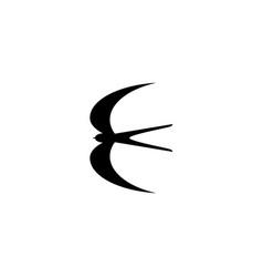 Swallow bird vector