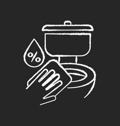 Toilet disinfection chalk white icon on black vector