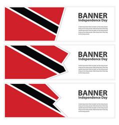 Trinidad amp tobago flag banners collection vector