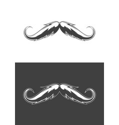 vintage monochrome detailed mustache vector image