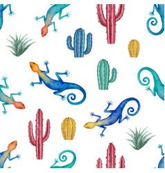 Watercolor seamless pattern landscape vector