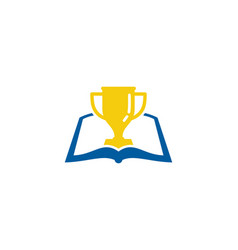 Winner book logo icon design vector