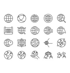 world line icon set vector image