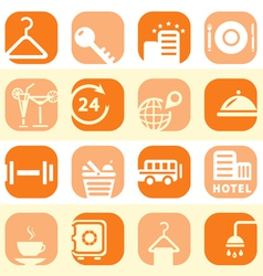 color hotel business icons vector image vector image