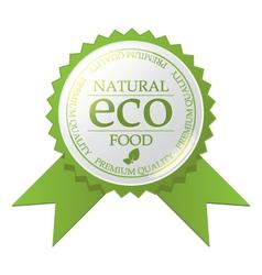 ECO badge vector image vector image