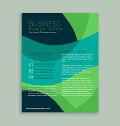 green and blue brochure flyer design vector image vector image