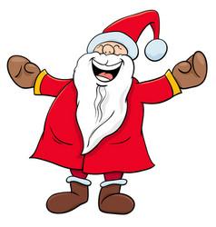 happy santa claus christmas character vector image vector image