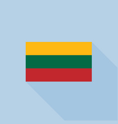 lithuanian flag vector image vector image