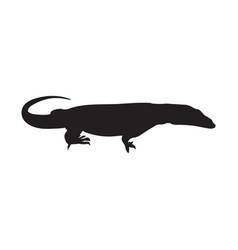 lizard icon varan silhouette vector image