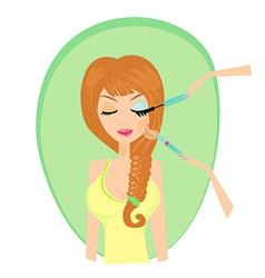 Make-up girl card vector image vector image