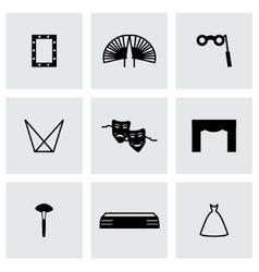 Theatre icon set vector image