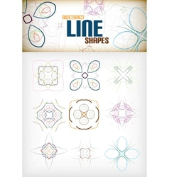Vintage abstract line shapes set for decorations vector image vector image