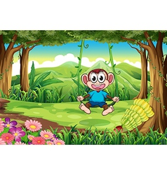 A monkey swinging vector image vector image