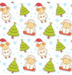 Festive new year winter seamless pattern vector image