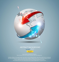 globe concept vector image vector image