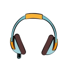 headphone music sound design isolated vector image vector image