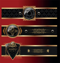heraldry banners vector image vector image
