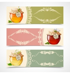 Honey banners horizontal vector image